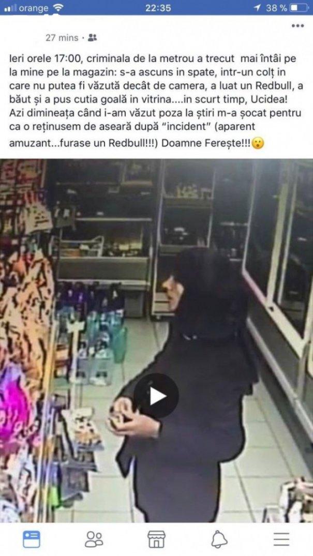 Criminala de la metrou a furat un energizant înainte de curma viaţa Alinei Suciu
