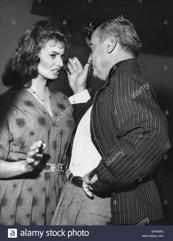Regizorul român alaturi de Sophia Loren