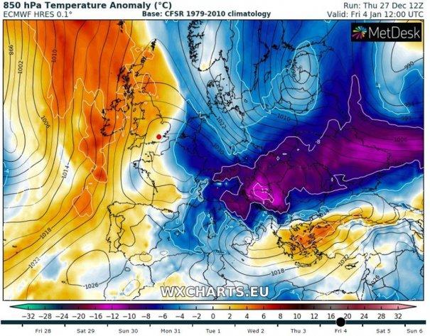 ALERTĂ METEO. România va fi lovită de un Vortex POLAR. Ninsori abundente și temperaturi de -14 Grade 3