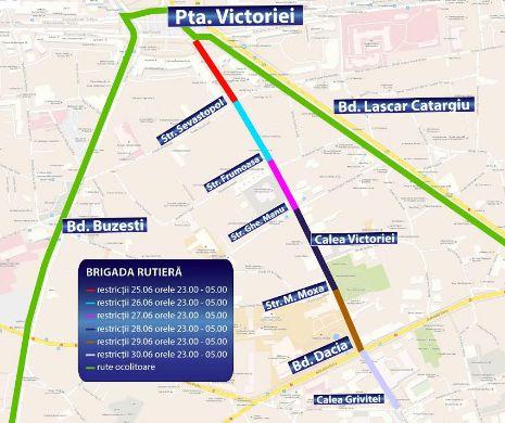 Se Inchide Calea Victoriei Restricții De Trafic Pe șapte Străzi
