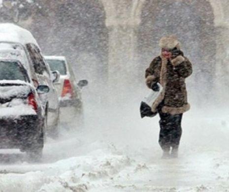 Fenomen rar în România! Anti-ciclonul est-european se întâlnește cu Vortexul polar