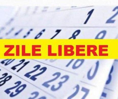 Când pică şi câte zile libere vor avea românii în 2020