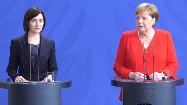 Angela Merkel pune condiții. Negocieri cu Maia Sandu pentru aderarea Moldovei la UE