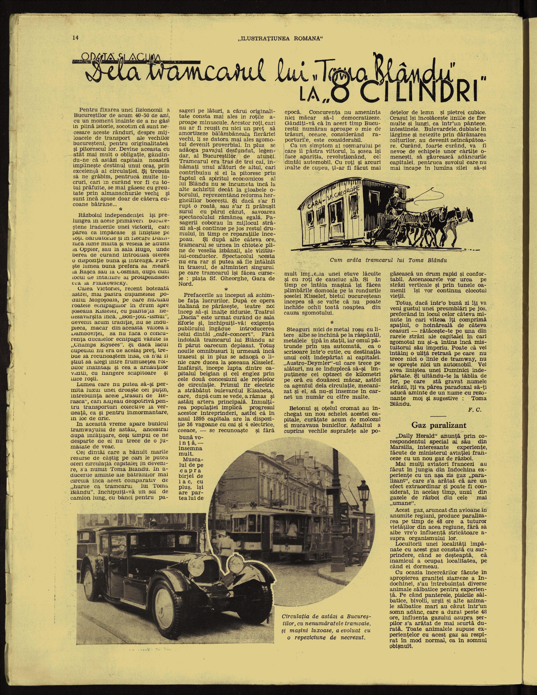 Tramcarul lui Toma Blându duduia prin București