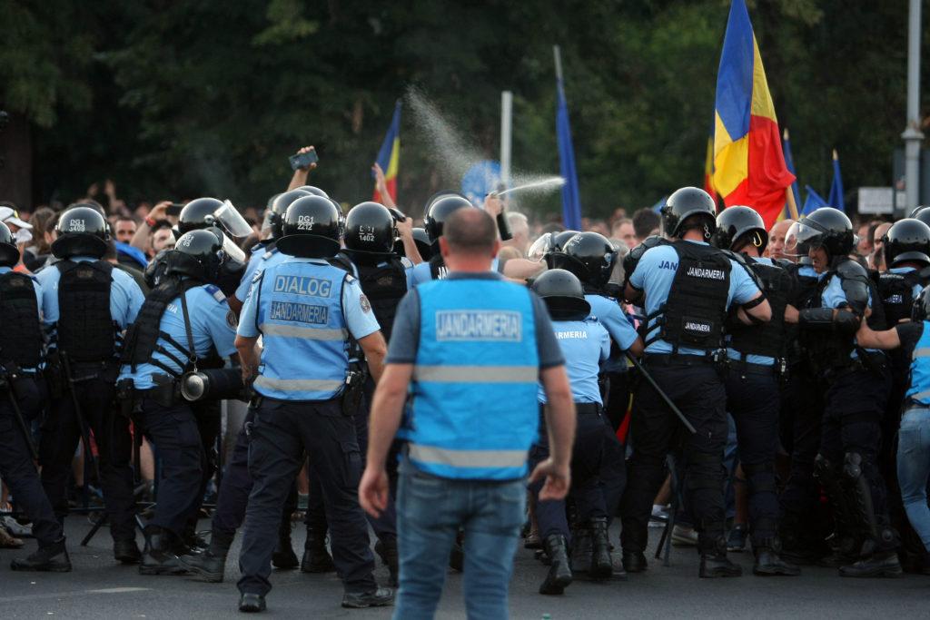 Protestul din Piața Victoriei, un fiasco pentru organizatori. Cum a acționat Jandarmeria