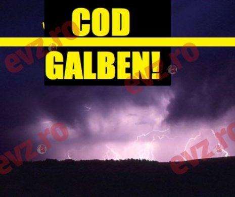 Cod Galben de furtună. ANM a emis un nou avertisment
