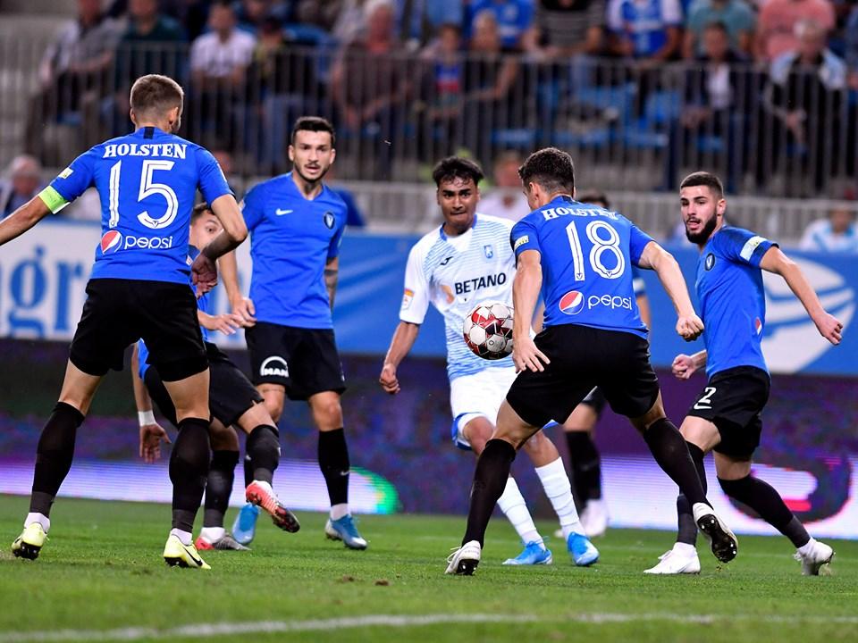 Craiova lui Pițurcă s-a impus în derby-ul cu Viitorul lui Hagi. Oltenii au fost conduși, dar au revenit spectaculos