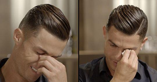 Cristiano Ronaldo a izbucnit în lacrimi în momentul în care a văzut, în premieră, o filmare cu tatăl său | VIDEO