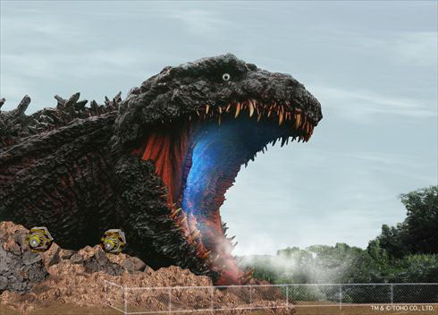 Godzilla în mărime naturală! Are capul cât un bloc cu 7 etaje. Galerie foto