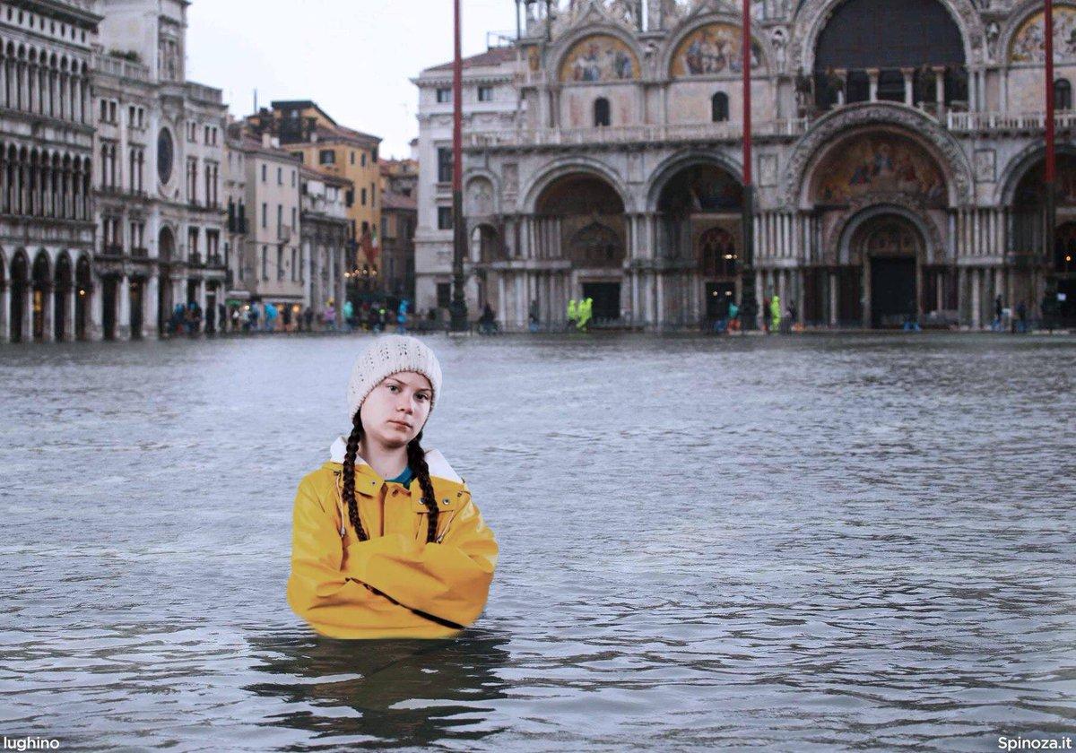 """Banii ies şi din piatră seacă. Greta Thunberg """"nu ştie"""" că Veneţia este inundată în fiecare an de când lumea şi pământul"""