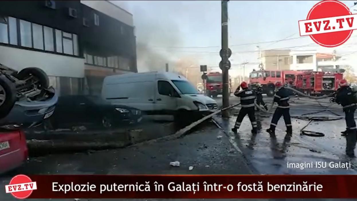 Evz.TV. Explozie puternică în Galați la rezervoarele unei foste benzinării. ISU intervine de urgență