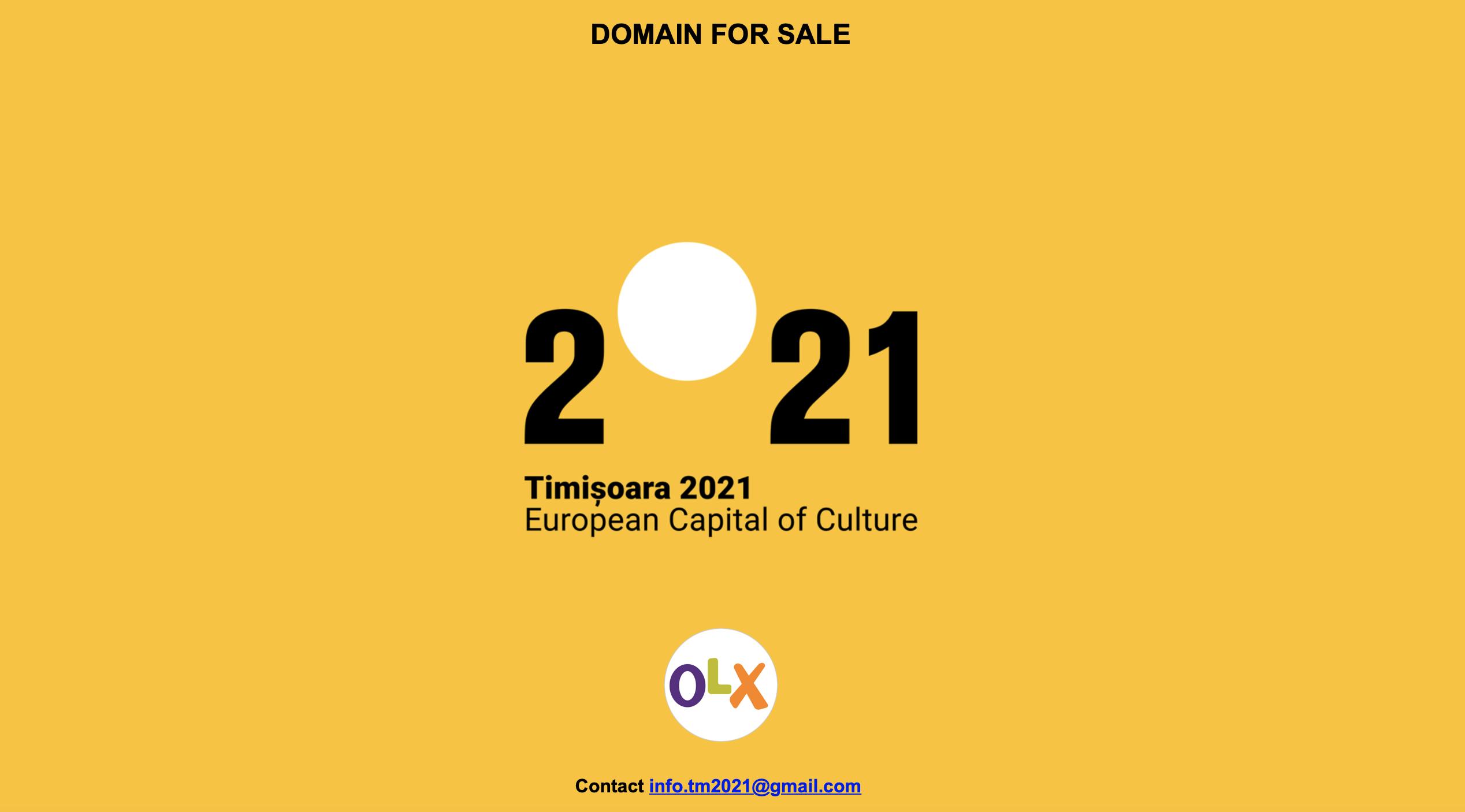 #tm2021, eticheta oficială  pentru Timișoara – Capitală Europeană a Culturii 2021, de vânzare pe internet