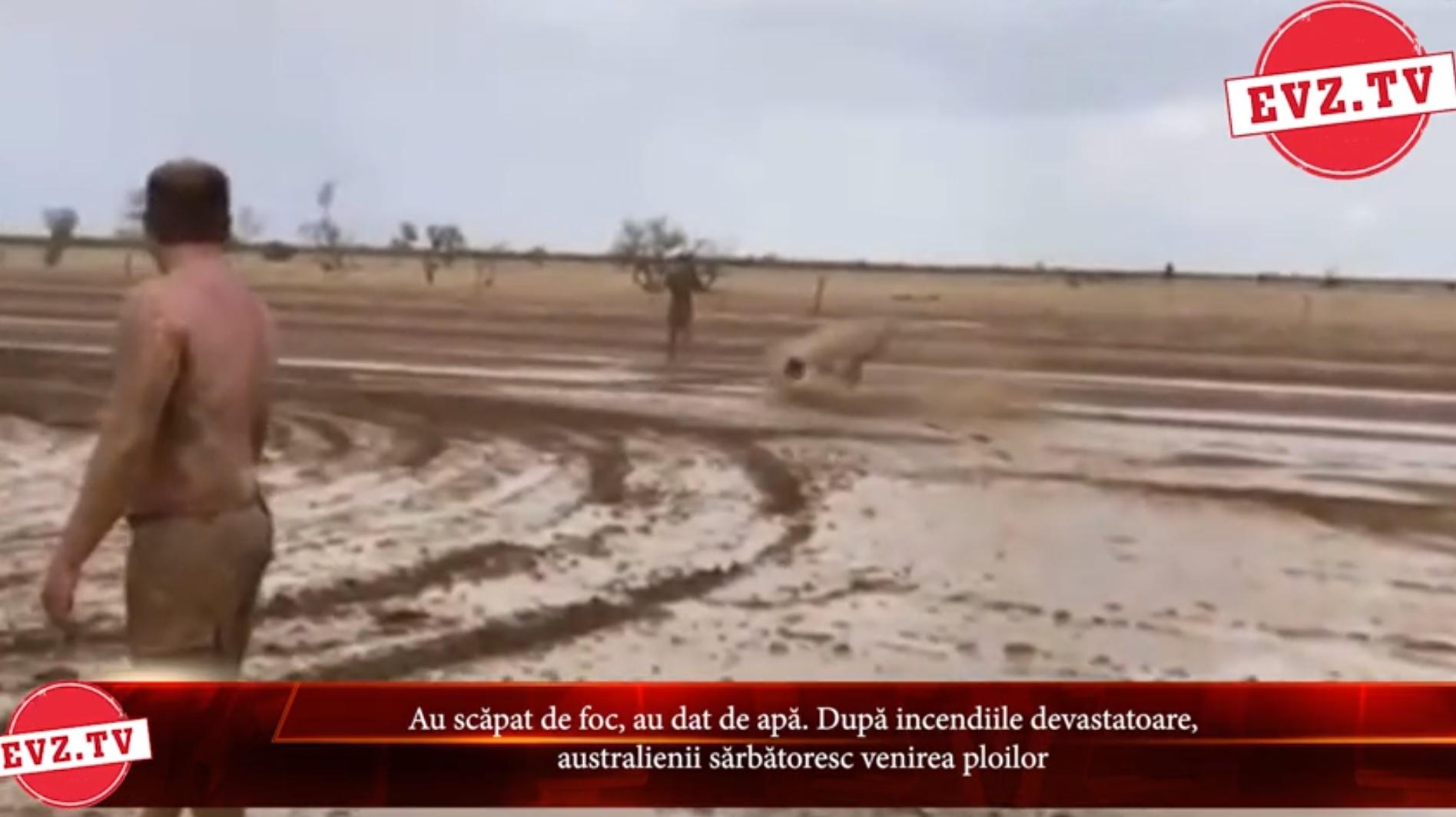 Evz.TV. Au scăpat de foc, au dat de apă. După incendiile devastatoare, australienii sărbătoresc venirea ploilor