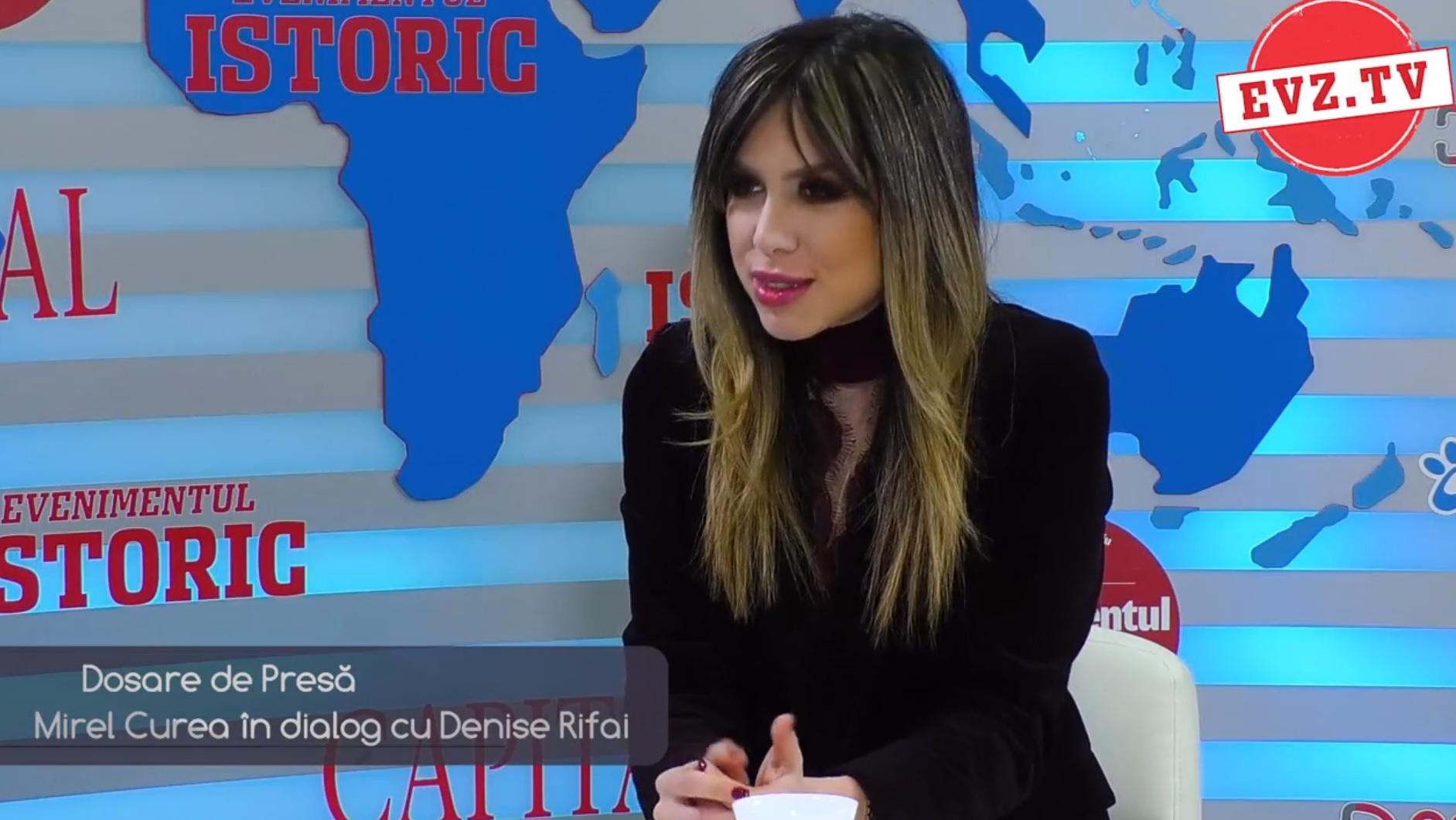 Denise Rifai s-a spovedit la EvZ TV. Ce spune de relația cu Gușă