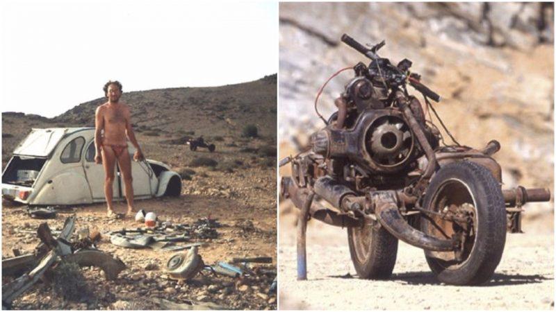 Electricianul care s-a salvat din deșertul Sahara după ce și-a transformat mașina în motocicletă