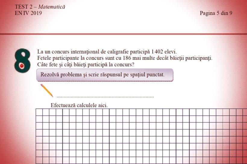Evaluarea Națională pentru elevii de clasa a lV! Exercițiul care i-a încurcat pe elevi