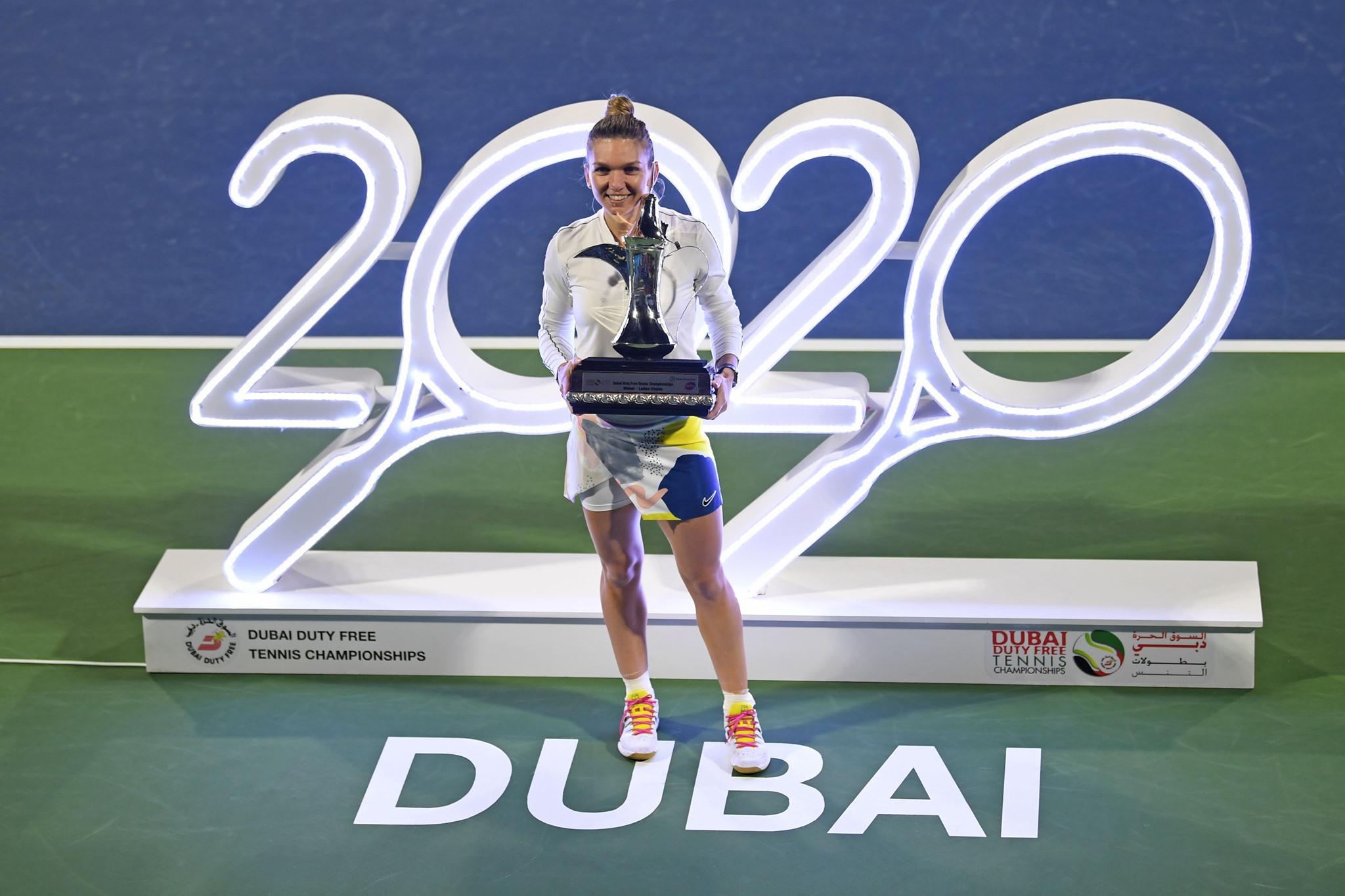 Câți bani a încasat Simona Halep după câștigarea trofeului WTA Dubai