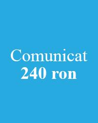 Pachet 1 comunicat
