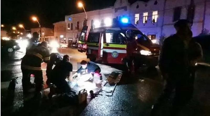 Accident teribil în România. Victima a zburat prin aer peste 50 de metri. VIDEO